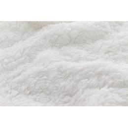 Tissu fausse fourrure de mouton blanc - 195