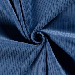 Tissu velours côtelé indigo - 196