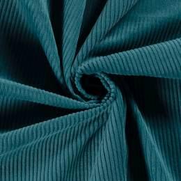 Tissu velours côtelé pétrole - 196