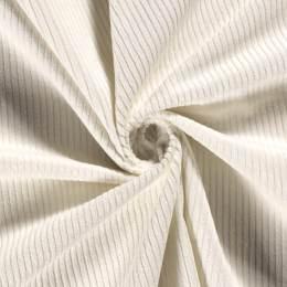 Tissu velours côtelé blanc cassé - 196
