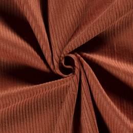 Tissu velours côtelé brique - 196