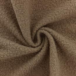 Tissu fausse fourrure bouclettes marron - 196