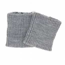 Bord-côte côtelé poignet gris clair - 207