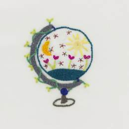 Kit broderie Easy Custo - discover the world - 215