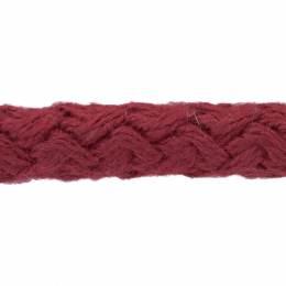 Cordon simple mat 5 mm rouge