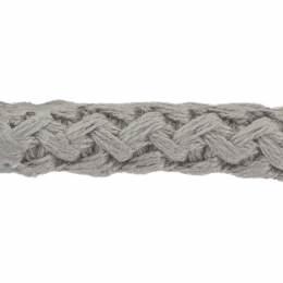 Cordon simple mat 8 mm gris