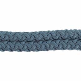 Cordon double brillant 10 mm bleu