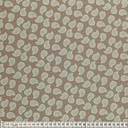 Tissu Mez Fabrics coton mandala paisley orange - 22