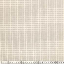 Tissu Mez Fabrics coton mandala grid neutral - 22