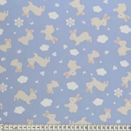 Tissu Mez Fabrics coton bunny & cloud bunny blue - 22