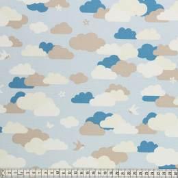 Tissu Mez Fabrics coton bunny & cloud clouds blue - 22