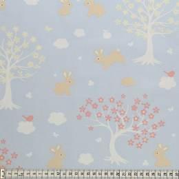 Tissu Mez Fabrics coton bunny & cloud trees pink - 22