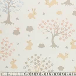 Tissu Mez Fabrics coton bunny & cloud trees white - 22