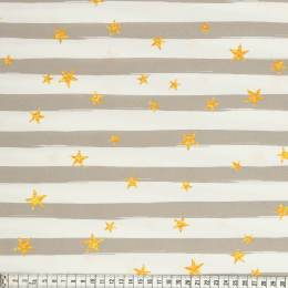 Tissu Mez Fabrics coton beach days stripes taupe - 22