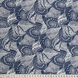Tissu Mez Fabrics coton shells blue - 22