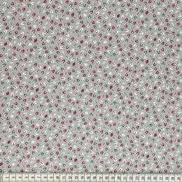 Tissu Mez Fabrics tutti frutti mini leaf grey - 22