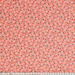 Tissu Mez Fabrics coton tutti frutti mini leaf red - 22