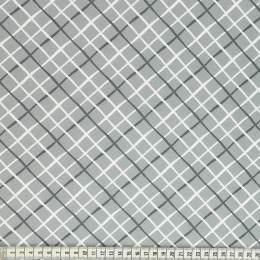 Tissu Mez Fabrics coton tutti frutti check grey - 22