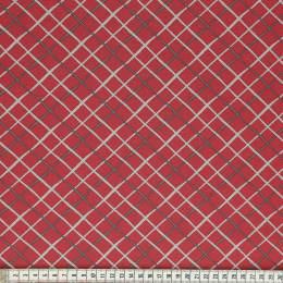 Tissu Mez Fabrics coton tutti frutti check wine - 22