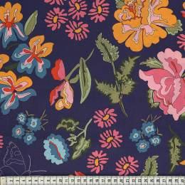 Tissu Mez Fabrics coton stauder blue a&c - 22