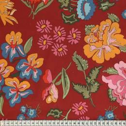 Tissu Mez Fabrics coton stauder red a&c - 22