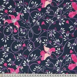 Tissu Mez Fabrics clematis fuchsia - 22