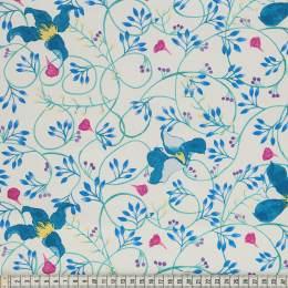 Tissu Mez Fabrics clematis teal - 22