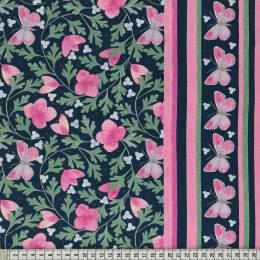 Tissu Mez Fabrics early spring flower fuchsia - 22
