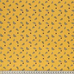 Tissu Mez Fabrics leaves and berries night - 22