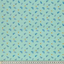 Tissu Mez Fabrics leaves and berries mint - 22