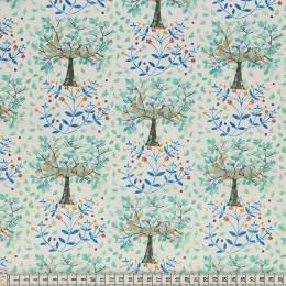 Tissu Mez Fabrics hare and pimpernel mint - 22