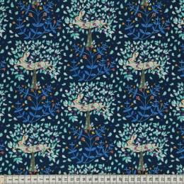 Tissu Mez Fabrics hare and pimpernel night - 22