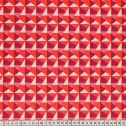 Tissu Mez Fabrics geo red - 22