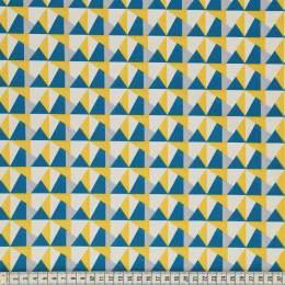 Tissu Mez Fabrics geo teal - 22