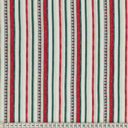 Tissu Mez Fabrics triangle and stripes white - 22