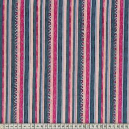 Tissu Mez Fabrics triangle and stripes fuchsia - 22