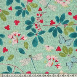 Tissu Mez Fabrics spring blossom green - 22
