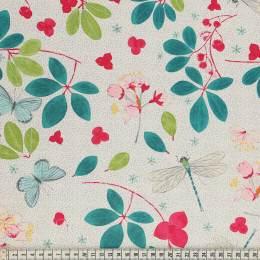 Tissu Mez Fabrics spring blossom white - 22