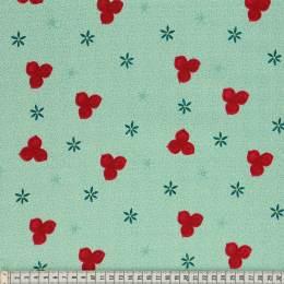 Tissu Mez Fabrics trefoil green - 22