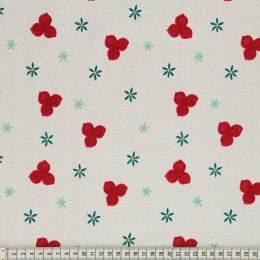 Tissu Mez Fabrics trefoil white - 22