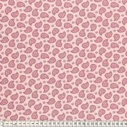Tissu Mez Fabrics jersey mandala paisley berry - 22