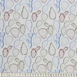 Tissu Mez Fabrics jersey alpaca cactus blue - 22