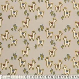 Tissu Mez Fabrics jersey alpaca friends stone - 22