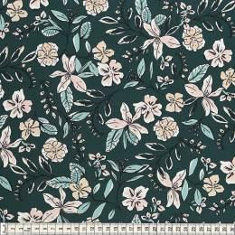 Tissu Mez Fabrics jersey flower dream green - 22