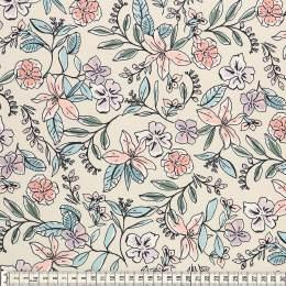 Tissu Mez Fabrics jersey flower dream white - 22
