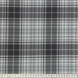 Tissu Mez Fabrics jersey tartan grey - 22
