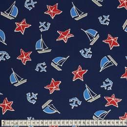 Tissu Mez Fabrics jersey beach days starfish red - 22