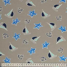Tissu Mez Fabrics jersey beach days starfish blue - 22