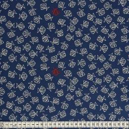 Tissu Mez Fabrics jersey beach days flounder blue - 22