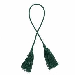 Pompons 6 cm + cordelière 25 cm vert par 6 - 221
